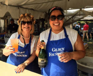 Photo courtesy Gilroy Foundation Donna Pray and Event Coordinator Yesenia Gonzalez take a break from volunteering.