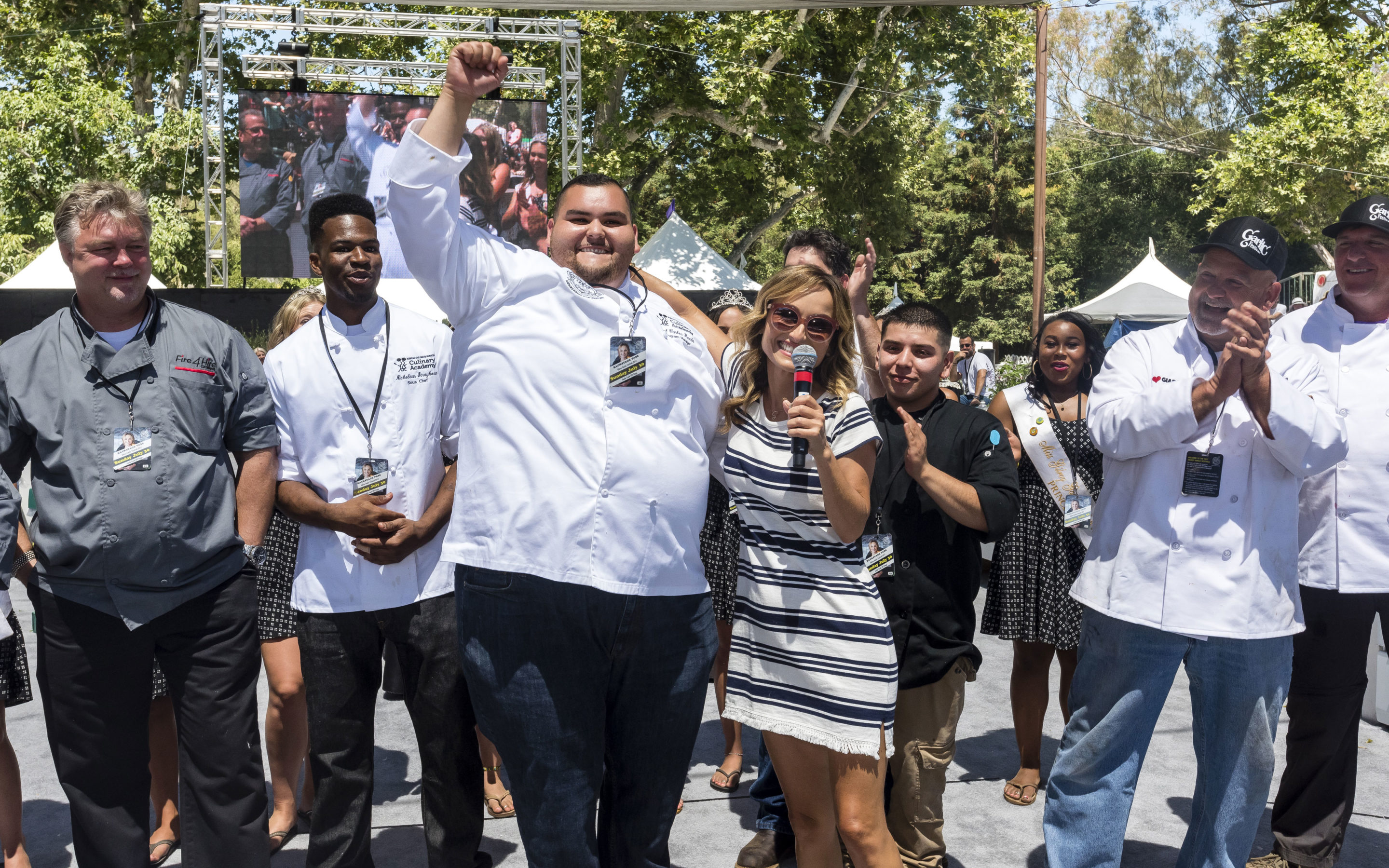 Main story: Academy chef wins prize in Garlic Showdown Cooking Competition